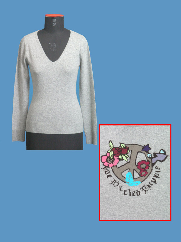 FP-178 Peace Intarsia Pullover