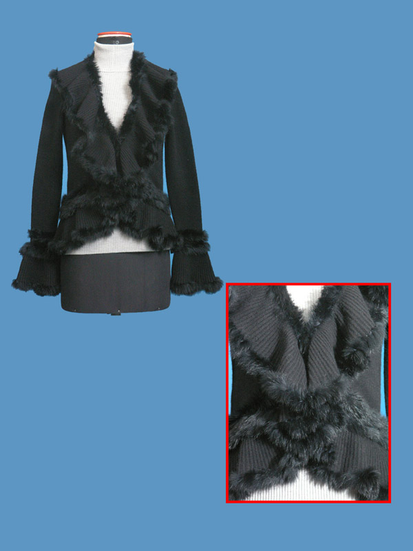 FP-179 Fur Trim Cardigan