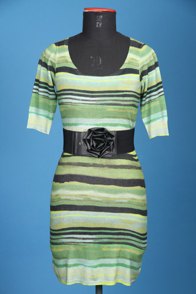 FP-273/B Digital printed stripes + PU elastane belt