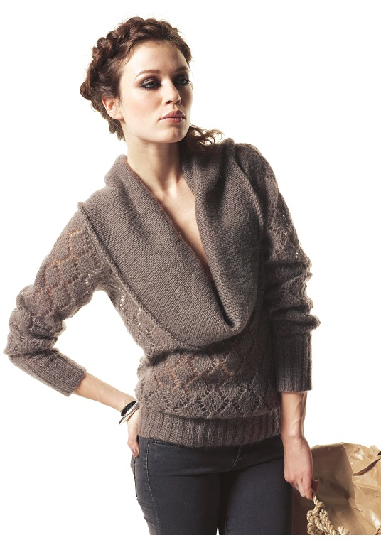 FP-328 Mohair ajour pullover