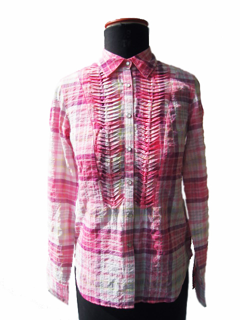 FP-311 Checked blouse with structure