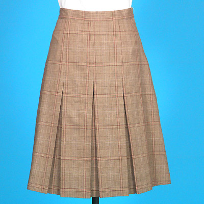 FP-106 Check pattern box pleat skirt