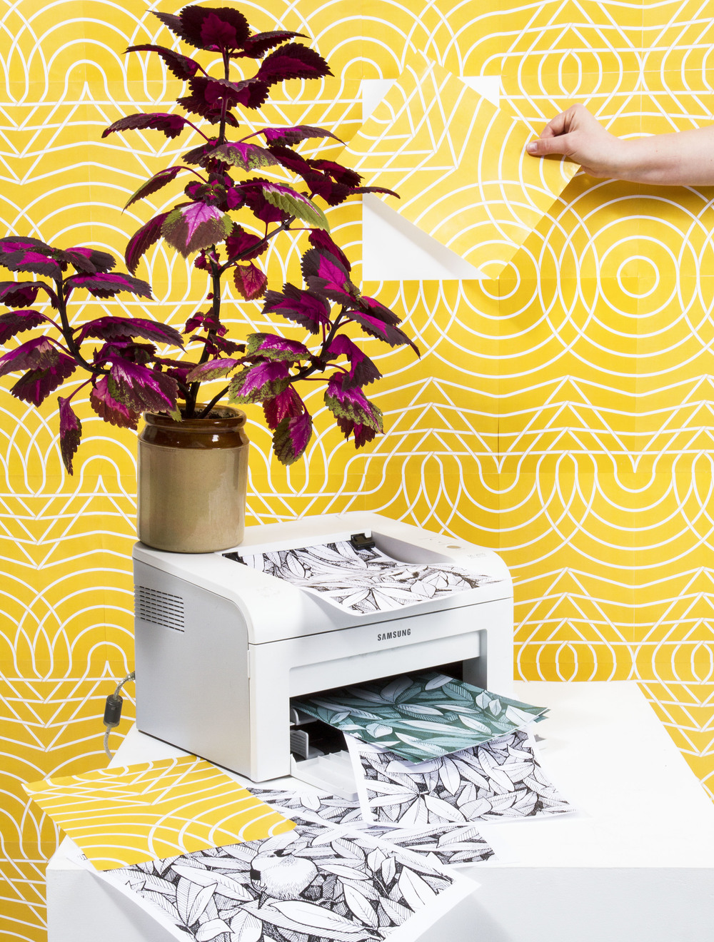The Pattern Printer Project is created by  Julia Groth , MFA Design at HDK, Academy of Design and Crafts, Gothenburg.