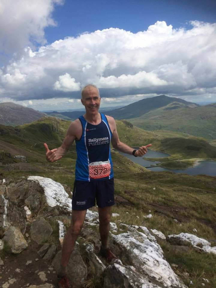 John Hasson at the Snowdonia Trail Marathon