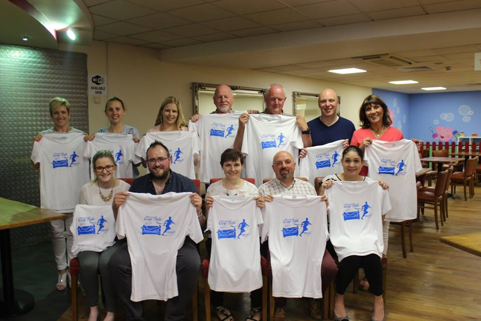 One group of graduates from the Broughshane Cosy Sofa to 5k