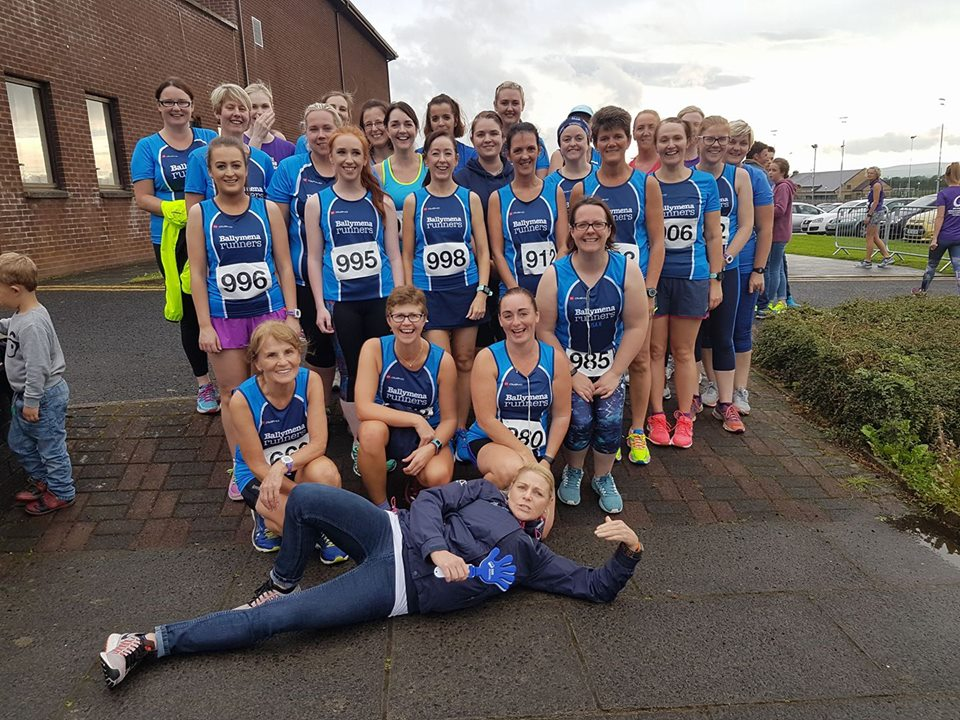 Ballymena Belles at the Purple Ladies 5k