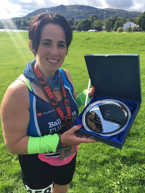 Claire Martin - Joint Ladies winner in the East Antrim Marathon Series 6-Hour Challenge