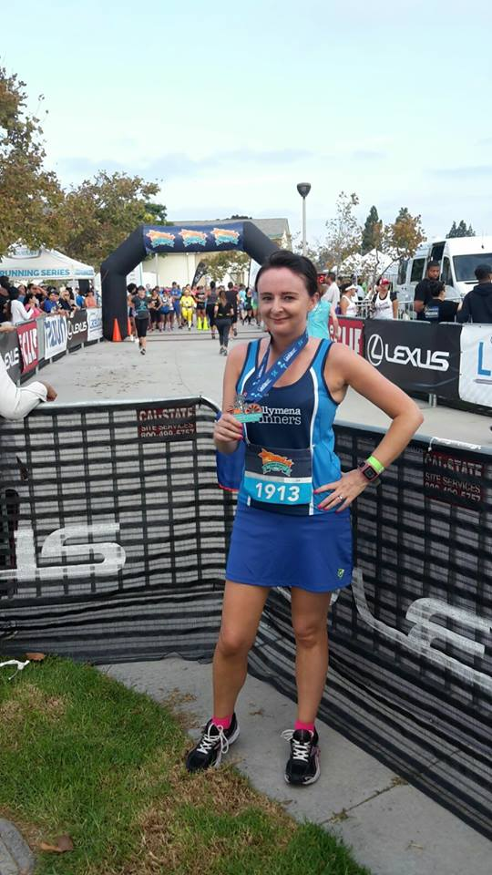 Elaine Scullion competes in the Orange County 5k