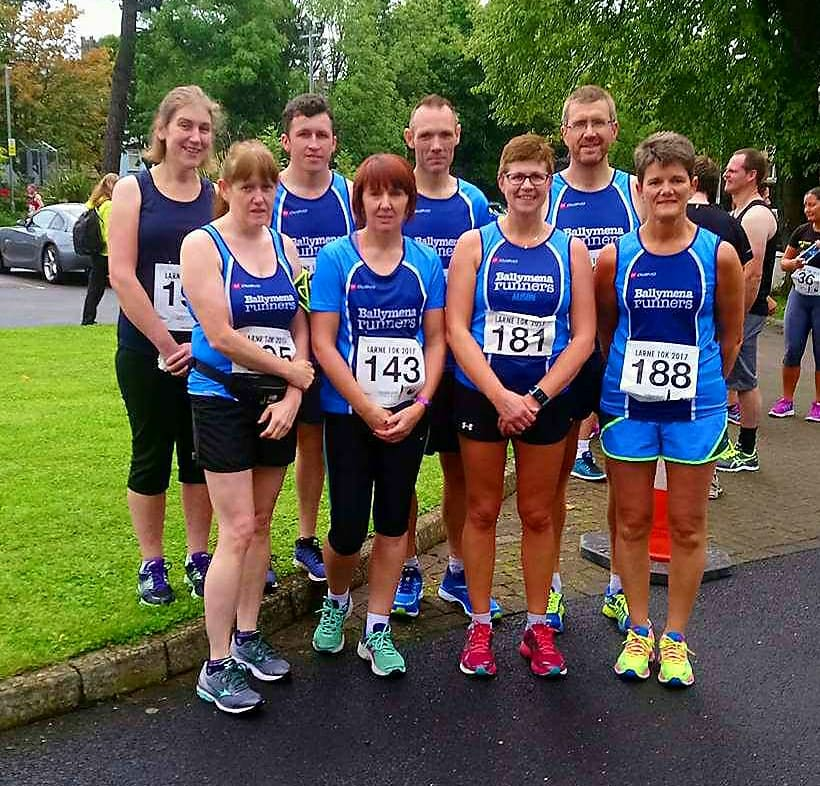 Lining up before the start of the Larne 10k