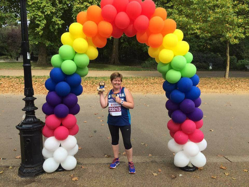 Sylvia Ringer at the Royal Parks Half Marathon