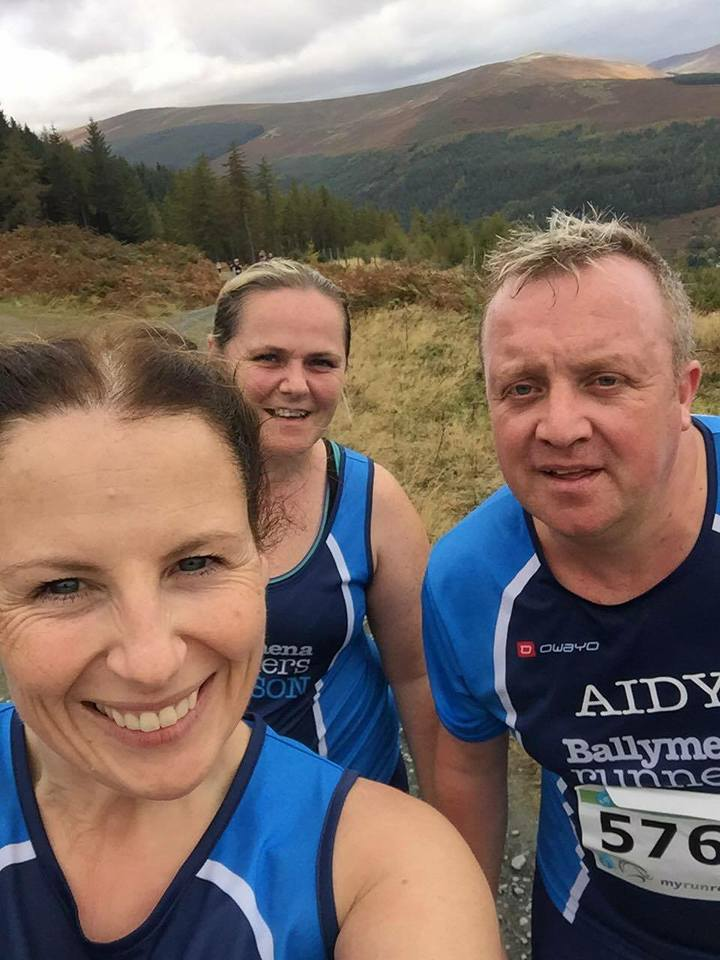 Emma Donnelly, Allison Douglas and Aidy Douglas Run The Ridge in the Wicklow Mountains