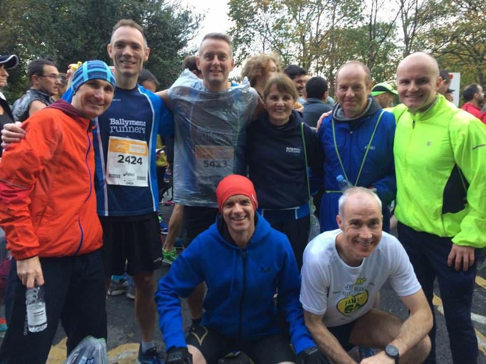 A little team bonding before Sunday's Dublin Marathon ...