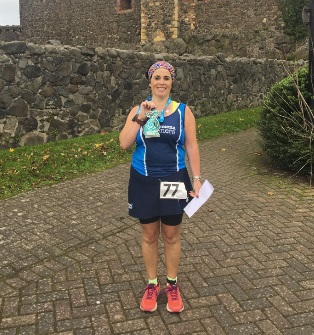 Claire Martin - second lady at the East Antrim Marathon Series on Saturday