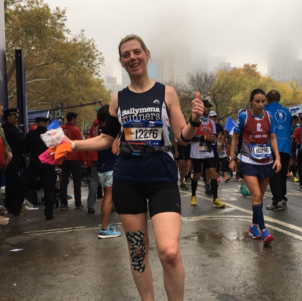 Eleanor Forrest completes the New York City Marathon