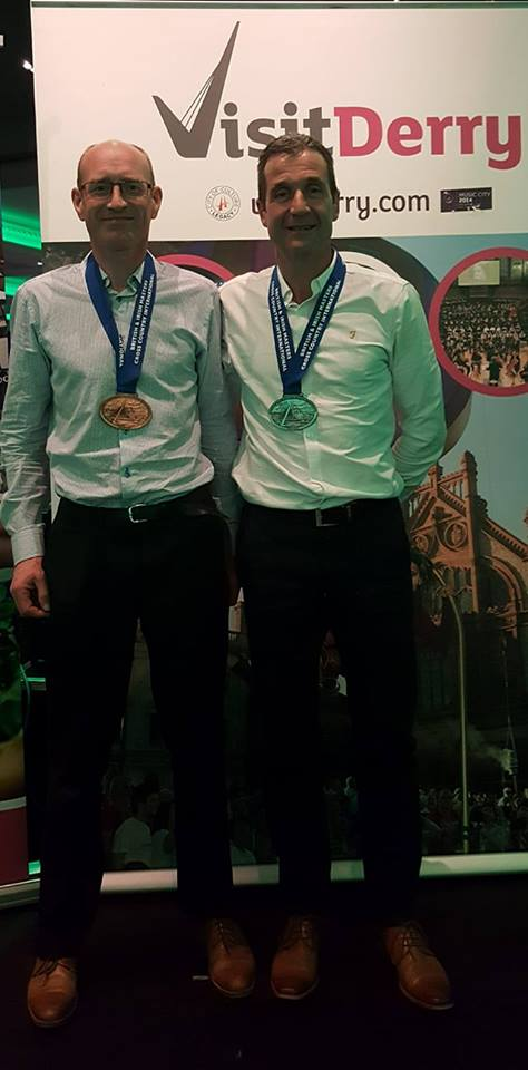 James Turtle and Noel Connor won medals representing Northern Ireland at the British & Irish Masters Cross Country event