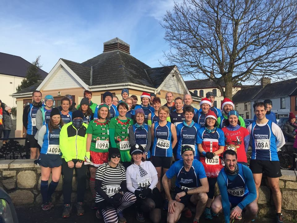 Lining up before the Castlewellan Christmas Cracker
