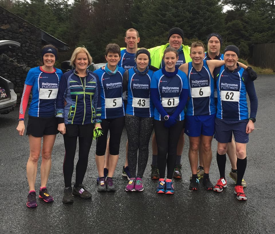 Some of the Ballymena Runners crew that tackled An Creggan on Saturday