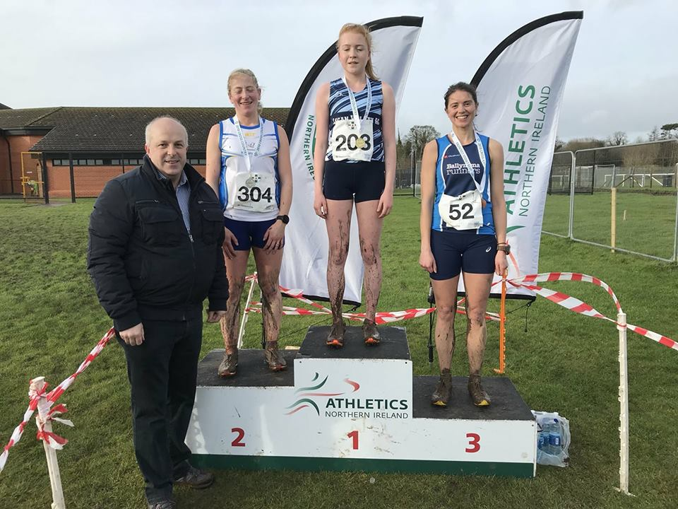 Kerry Bamber takes to the podium with bronze at the NI Ulster Intermediate & Masters Cross Country