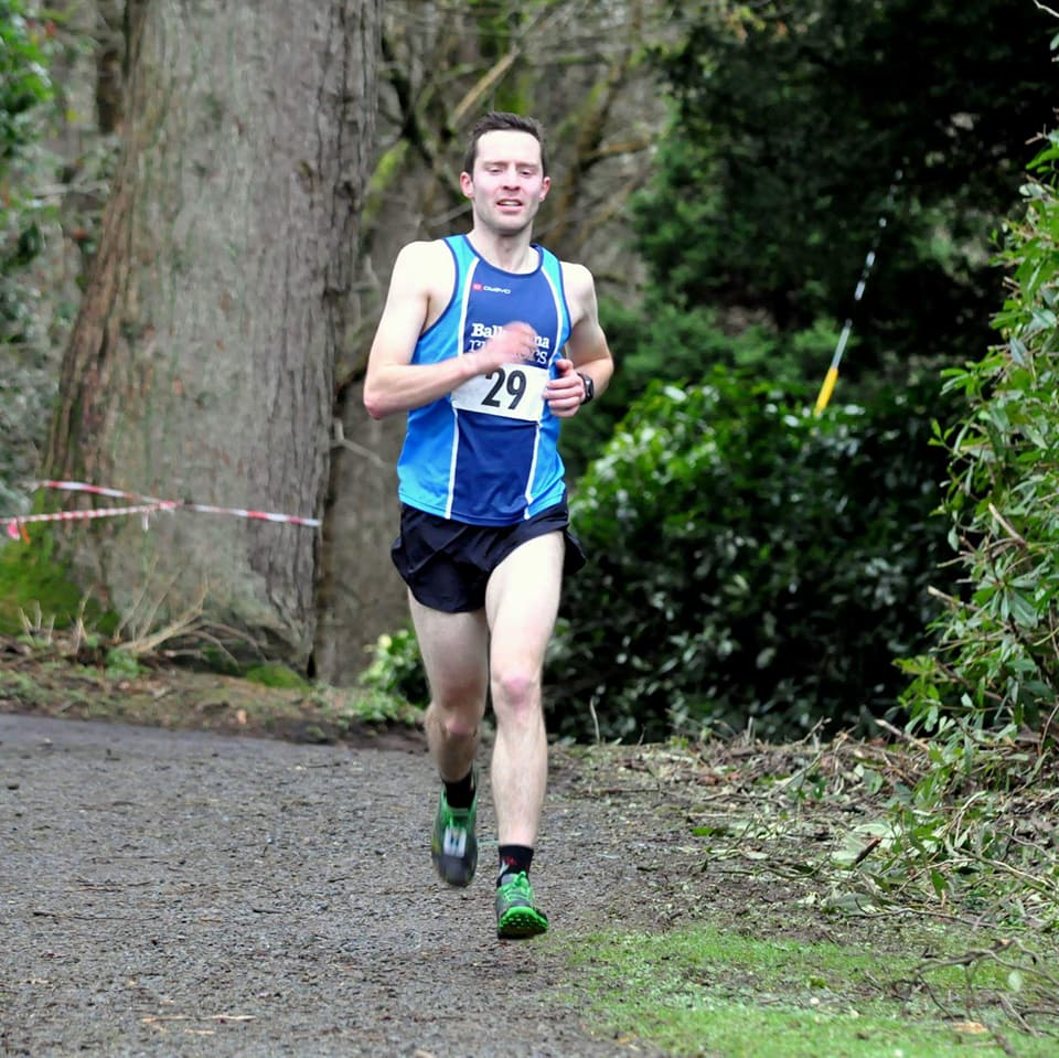 Jason Wilson on his way to victory at Drum Manor Forest 10k