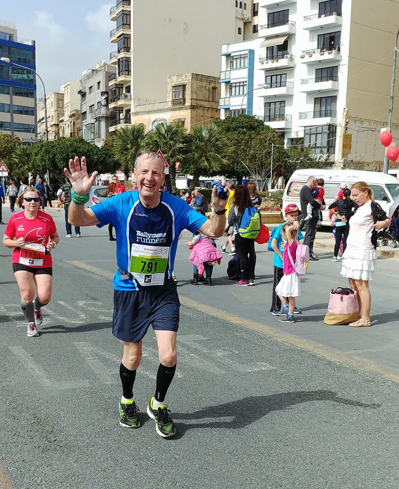Billy Bamber taking part in the Malta Marathon