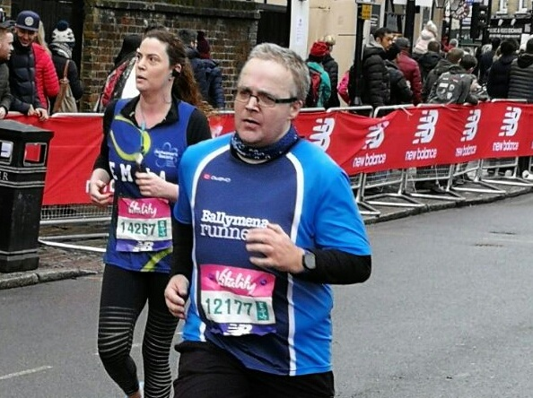 Martin Harris focuses on the finishing line in the Vitality Big Half