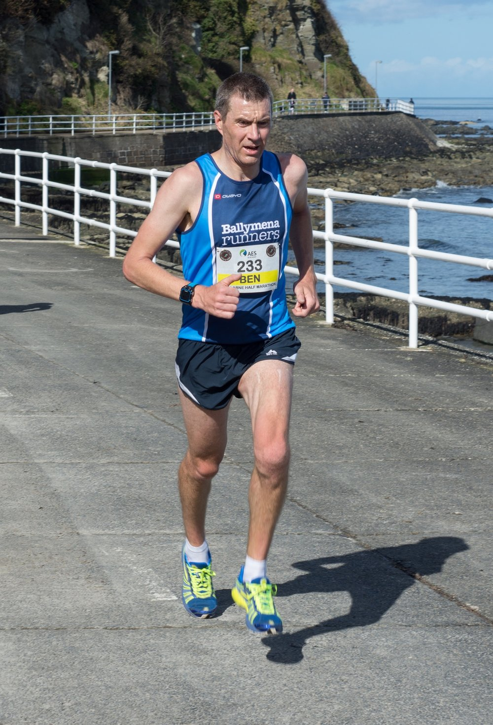 Ben Morrow was the first Ballymena Runner home in Larne