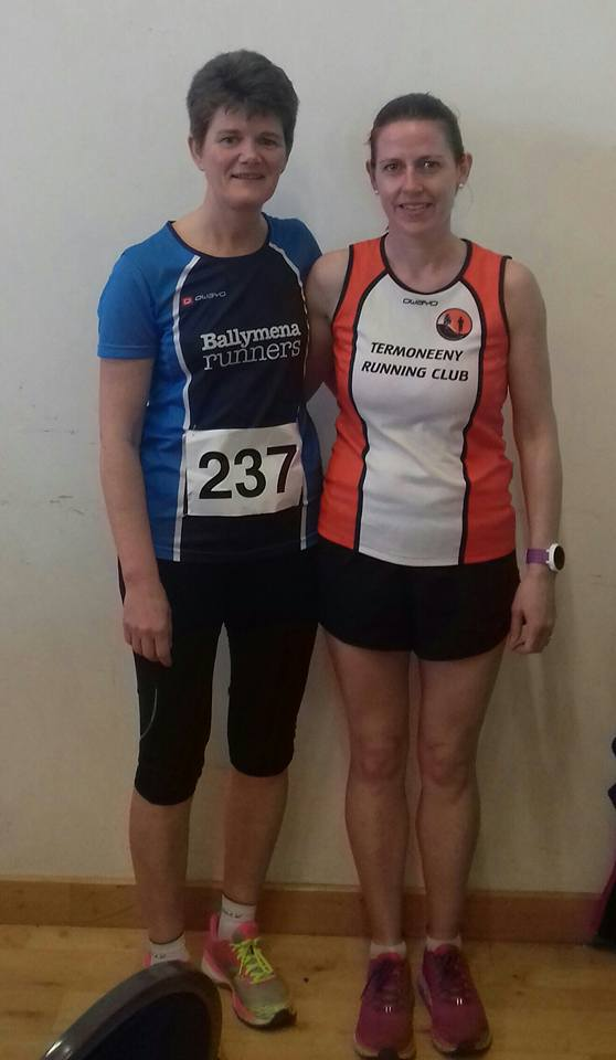 Linda Petticrew - second lady in Randalstown on Saturday morning