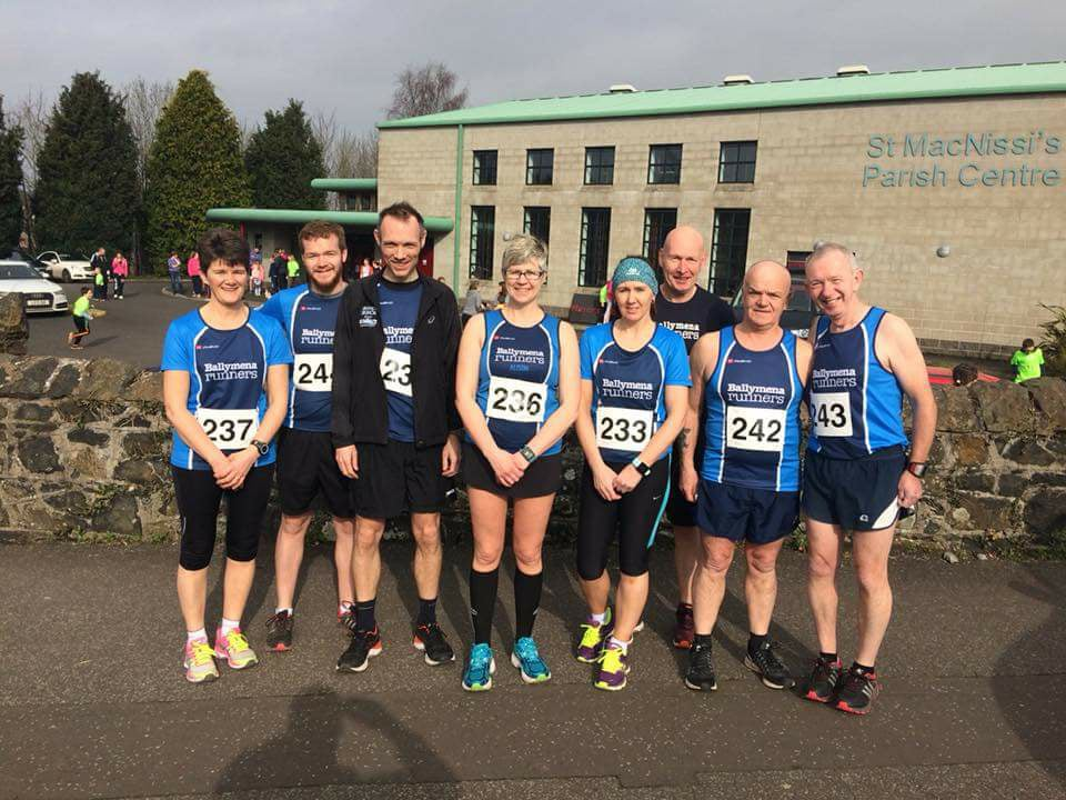 Some of the Ballymena Runners team in Randalstown on Saturda