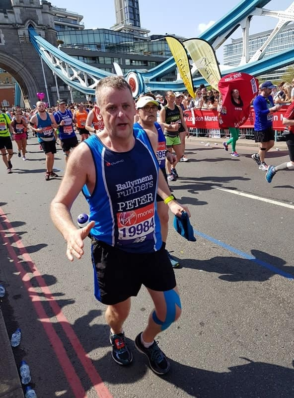 Peter Coulter crossing the iconic Tower Bridge