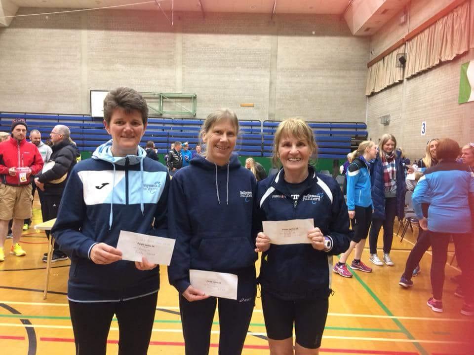 Linda Petticrew, Susanna Allen and Brigid Quinn - age category winners at the Purple Ladies 5k