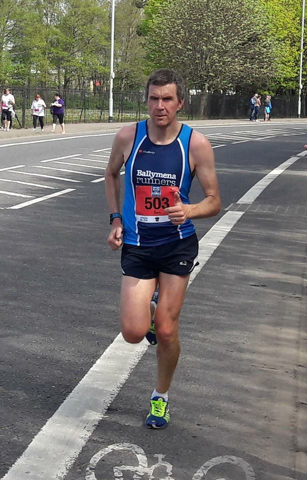 Ben Morrow powers his way to a sub-3 time at the Belfast City Marathon