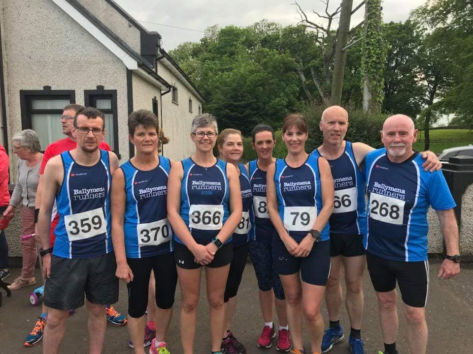 Some of those who raced in Maghera on Tuesday night