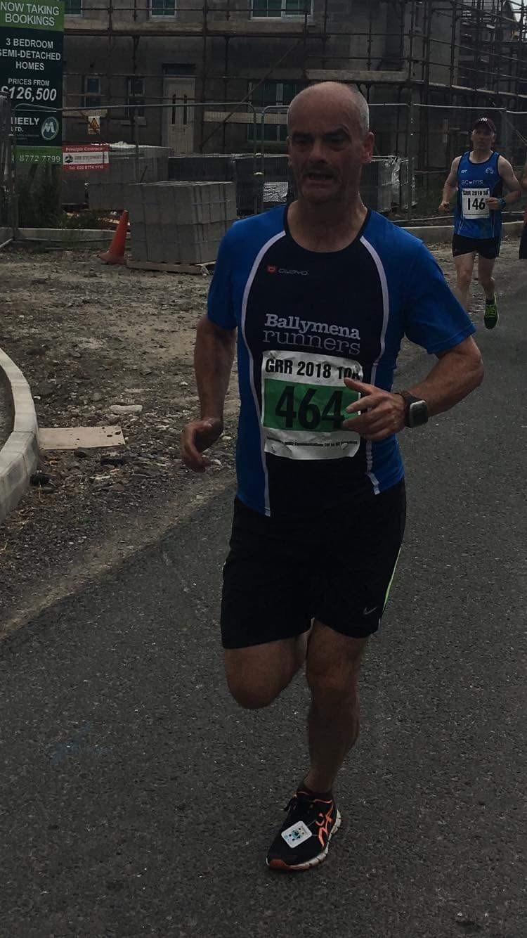 Peter Faith looking determined during the Great Rossa Run 10k
