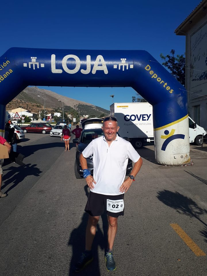 Robin Alexander inspects the start line of the Al Andulas Ultimate Trail race