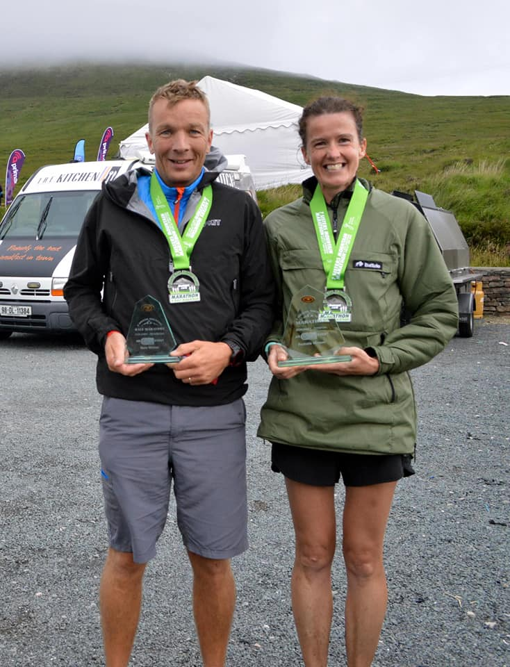 Mark Alexander and Gillian Wasson - race winners in the Seven Sisters Mountain Marathon