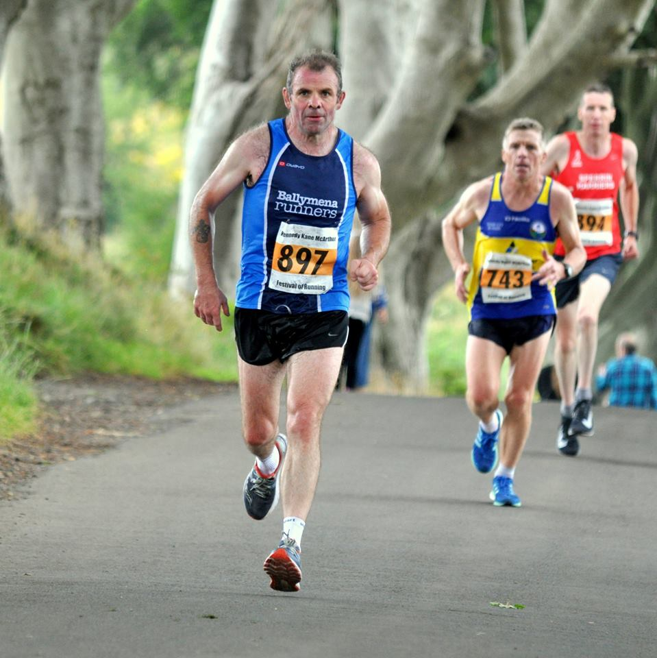 Eamon Loughran was first Ballymena Runner home through the Dark Hedges