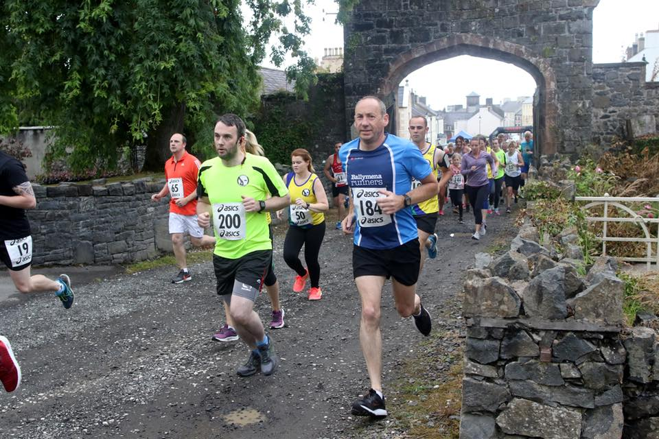 Michael Johnston #184 competes in the Dalriada Festival 5k