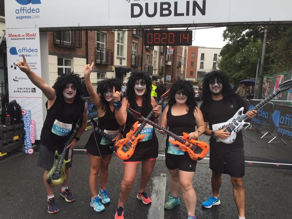 Aidy Dodds, Emma Donnelly, Mairead Agnew, Allison Douglas and Chris Young all set for the Rock n Roll Half Marathon in Dublin
