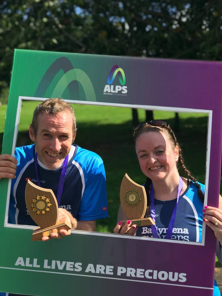 Kieran Scullion and Gemma Moore - 1st Male and 1st Female at the ALPS Life Run 10k