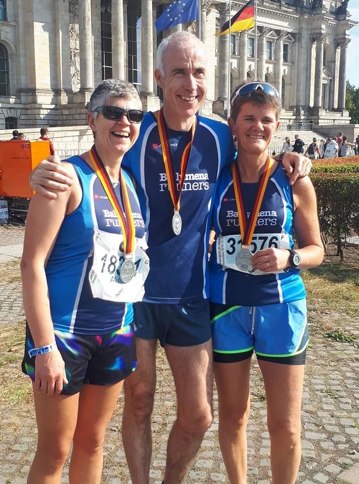 Alison Foster, John Hasson and Linda Petticrew complete the Berlin Marathon