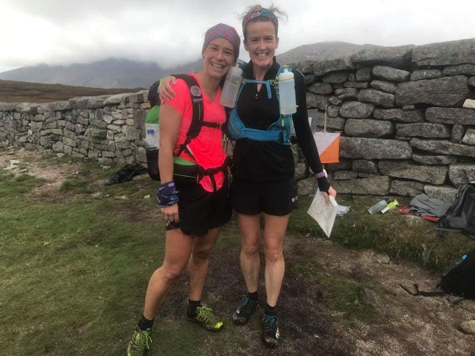 Ruth Aiken and Gillian Wasson - 1st Female Team in the Mourne Mountain Marathon