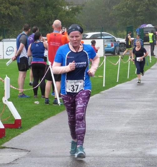 Jennifer Dickson in action in Saintfield