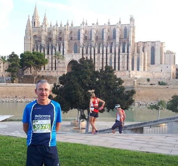 Paschal O'Sullivan at the Palma de Mallorca Half Marathon