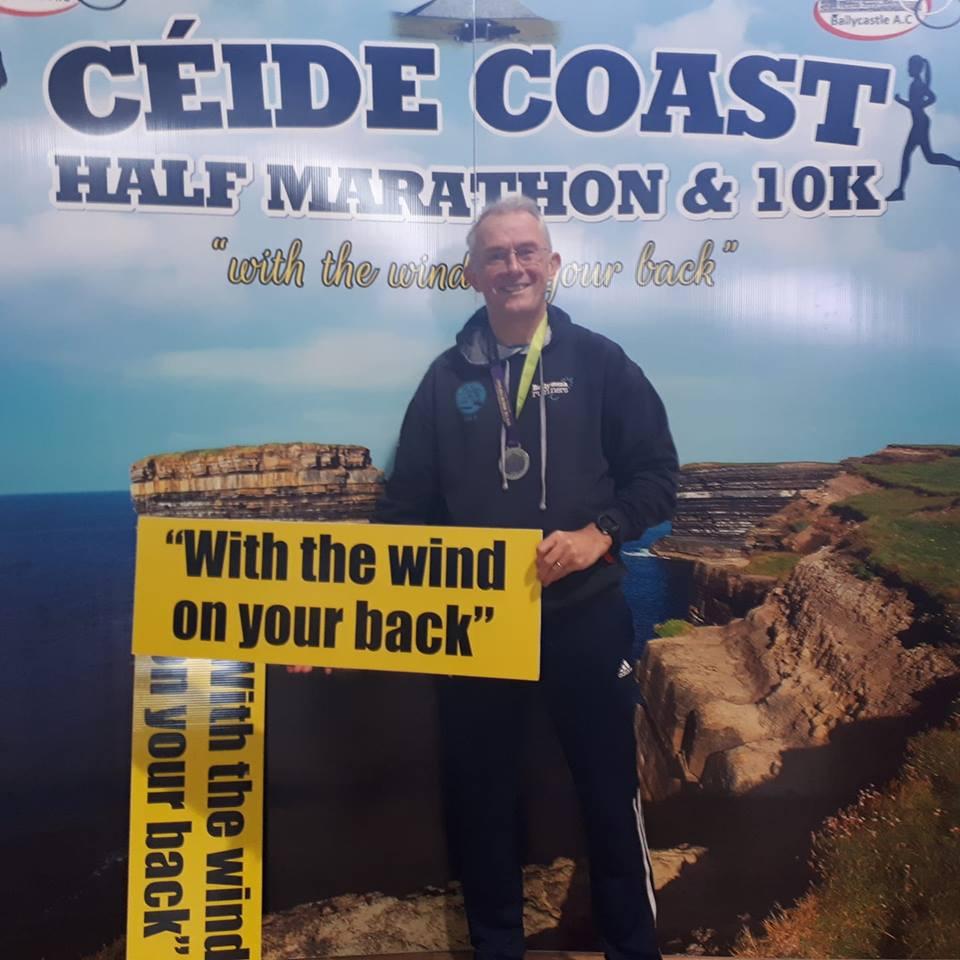 Robin Alexander at the Ceide Coast Half Marathon in Co. Mayo