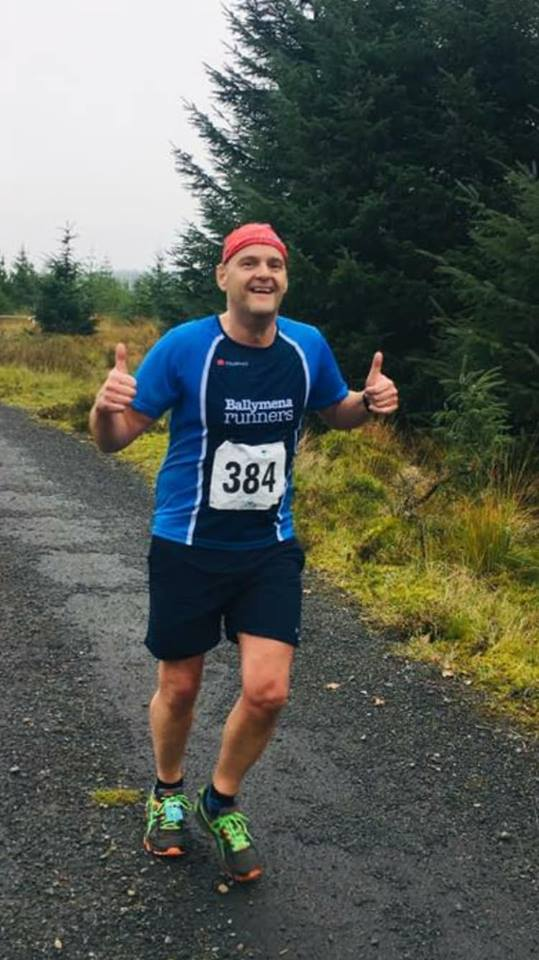 Thumbs up from Geoff Crawford at Davagh Forest