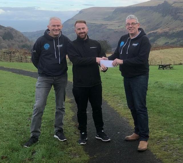 Robin Alexander (Ballymena Runners), Stephen Greene (Lifestyle Sports) and Stephen Brown (Ballymena Runners).jpg