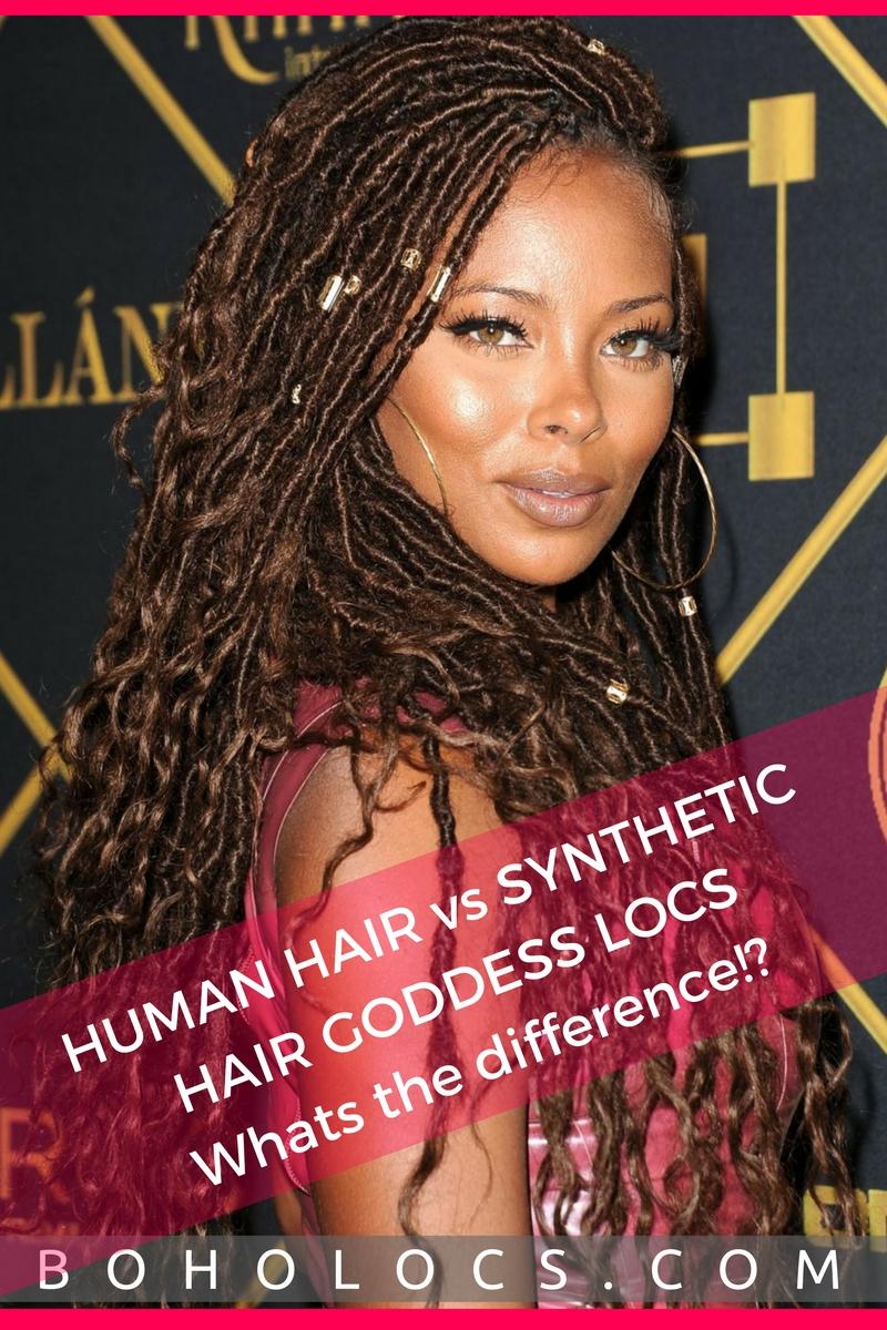 Human Hair Vs Synthetic Hair Goddess Locs Whats The