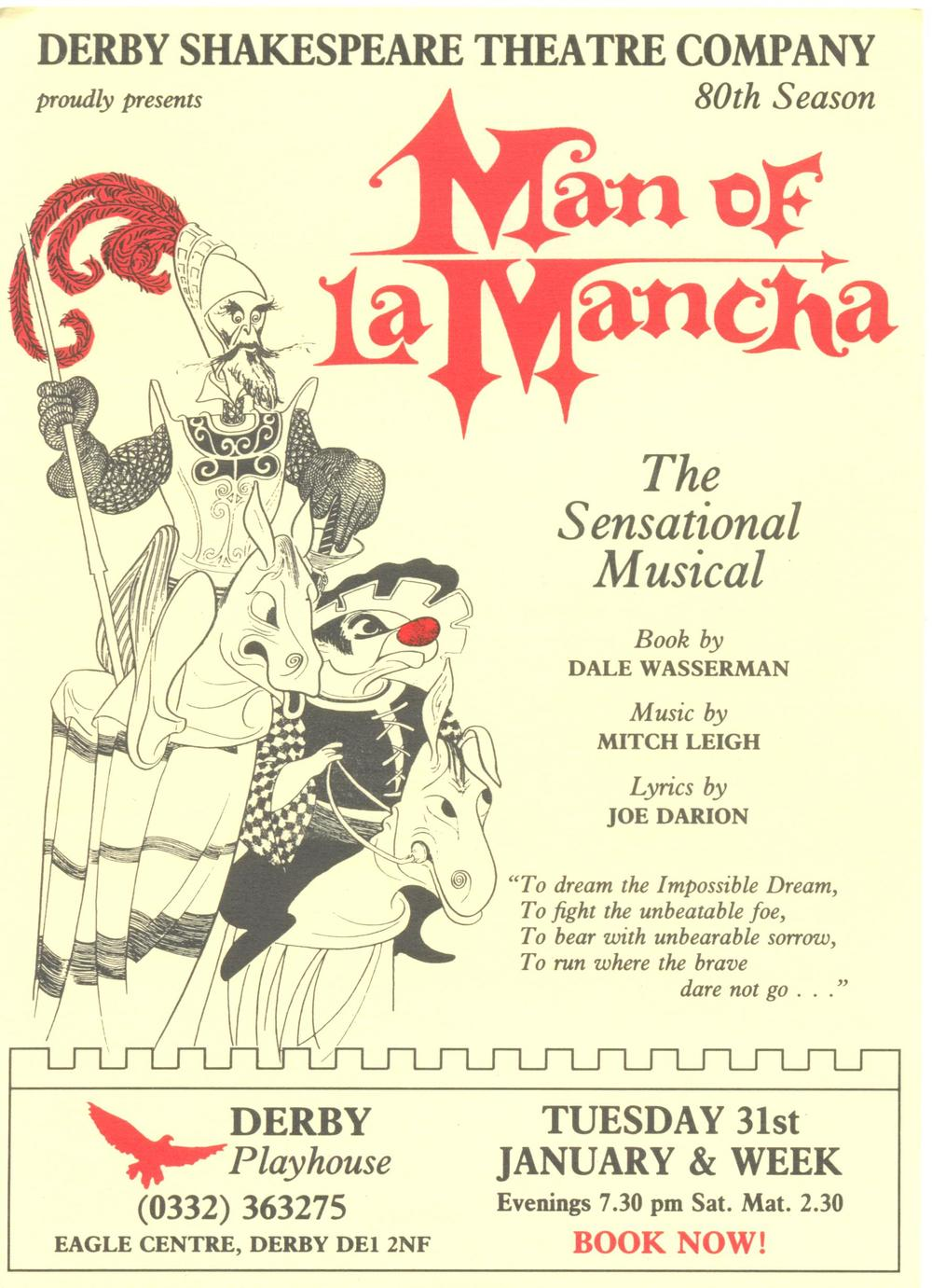 'Man Of La Mancha' 1989