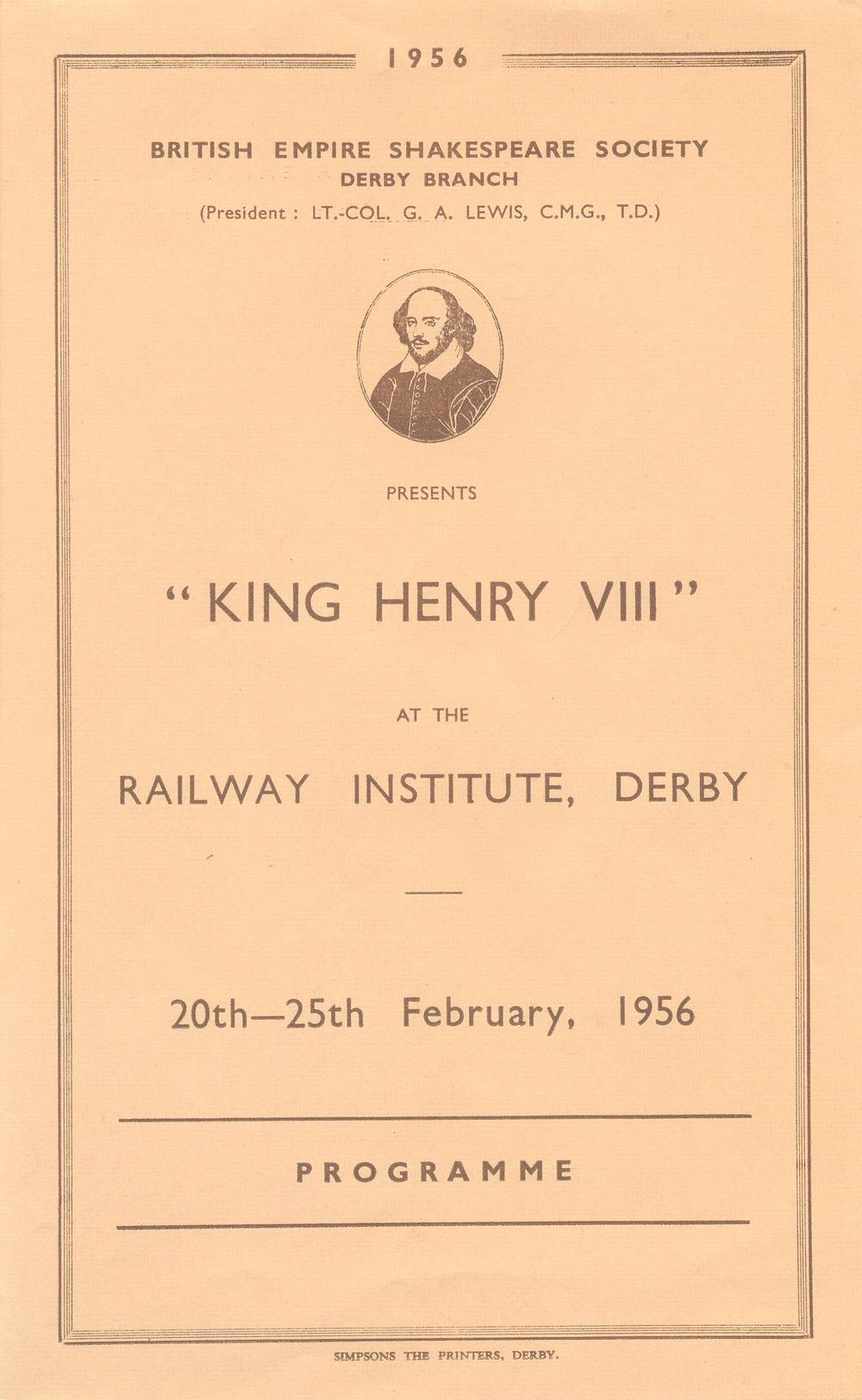 'Henry VIII' 1956