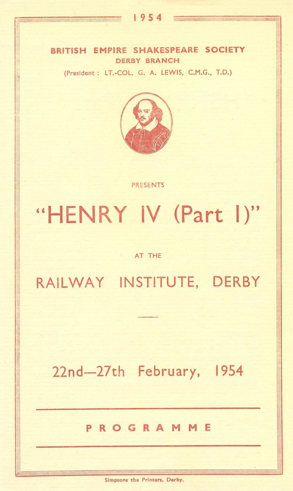 'Henry IV (Part I)' 1954